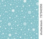 snowflakes vector seamless