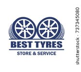 tyre   tire logo  emblems and... | Shutterstock .eps vector #737345080