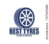 tyre   tire logo  emblems and... | Shutterstock .eps vector #737345086