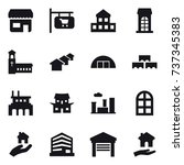16 vector icon set   shop  shop ... | Shutterstock .eps vector #737345383