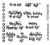 set of to do lists   hand drawn ... | Shutterstock .eps vector #737346538