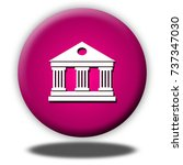 museum button isolated  3d... | Shutterstock . vector #737347030