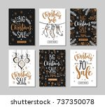 set of christmas sale banners. | Shutterstock .eps vector #737350078