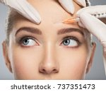 portrait of young caucasian... | Shutterstock . vector #737351473
