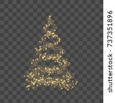 christmas tree on transparent... | Shutterstock .eps vector #737351896