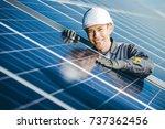 solar power station | Shutterstock . vector #737362456
