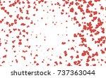 light red vector lovely... | Shutterstock .eps vector #737363044