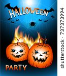vector illustration with flame  ... | Shutterstock .eps vector #737373994