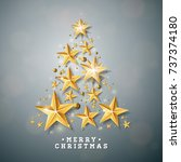 christmas and new year... | Shutterstock . vector #737374180