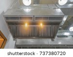 Small photo of The restaurant ventilation system. Airflow fan for ventilate vacuum odor. Ventilation in the kitchen.