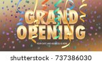 Grand Opening Vector Banner...
