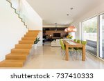real home interior of dinning... | Shutterstock . vector #737410333