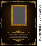 thailand royal gold frame on... | Shutterstock .eps vector #737410909