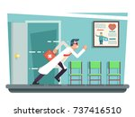 doctor running out consulting... | Shutterstock .eps vector #737416510