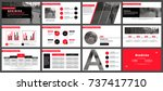 business presentation slides... | Shutterstock .eps vector #737417710