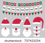 christmas vector decoration and ... | Shutterstock .eps vector #737423254
