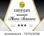 certificate template luxury and ... | Shutterstock .eps vector #737423548