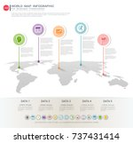 world map infographic template  ... | Shutterstock .eps vector #737431414
