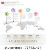 world map infographic template. | Shutterstock .eps vector #737431414