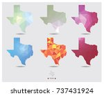 texas map geometric polygon... | Shutterstock .eps vector #737431924