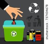 battery recycling vector... | Shutterstock .eps vector #737434678