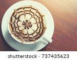 coffee flower in the morning...   Shutterstock . vector #737435623