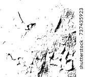 grunge black textures on white... | Shutterstock .eps vector #737435923