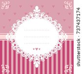 design invitation card in pink... | Shutterstock .eps vector #737437174