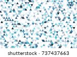 light pink  blue vector blurry... | Shutterstock .eps vector #737437663