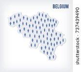 vector people map of belgium.... | Shutterstock .eps vector #737439490