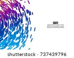 abstract colorful swirl shape... | Shutterstock .eps vector #737439796
