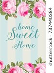the flower card. awesome blue... | Shutterstock .eps vector #737440384