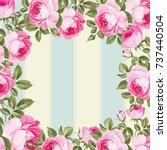 floral background for vintage... | Shutterstock .eps vector #737440504
