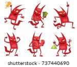 vector set of cartoon images of ... | Shutterstock .eps vector #737440690
