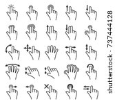 gesture icons set for mobile... | Shutterstock . vector #737444128