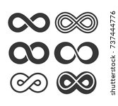 infinity symbol icons set.  | Shutterstock . vector #737444776