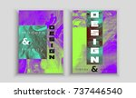 poster covers set with modern... | Shutterstock .eps vector #737446540