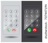 call number. keypad number.... | Shutterstock .eps vector #737447194
