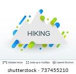 white badge mountains... | Shutterstock .eps vector #737455210