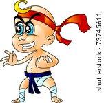 karate baby | Shutterstock .eps vector #73745611