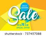 sale poster  banner template... | Shutterstock .eps vector #737457088