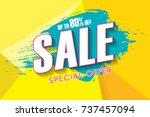 sale poster  banner template...   Shutterstock .eps vector #737457094