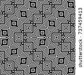 design seamless monochrome... | Shutterstock .eps vector #737459413