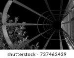 abstract industrial ladder.... | Shutterstock . vector #737463439