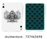 ace of spades face with thistle ... | Shutterstock .eps vector #737465698