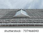 isolated modern window design.... | Shutterstock . vector #737466043