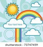 abstract sky background. vector ... | Shutterstock .eps vector #73747459