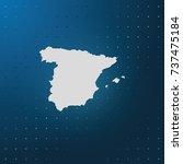 map of spain. | Shutterstock .eps vector #737475184