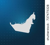 map of united arab emirates. | Shutterstock .eps vector #737475328