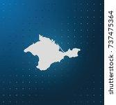 map of autonomous republic of... | Shutterstock .eps vector #737475364